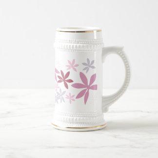 Rose, pourpre et pétales de fleur de Bourgogne Chope À Bière