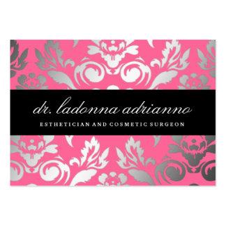 Rose rose de damassé de 311 Ladonna Carte De Visite Grand Format