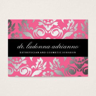 Rose rose de damassé de 311 Ladonna Cartes De Visite