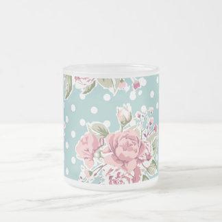 rose rose de rétro de cru motif de rose, w/white b tasses