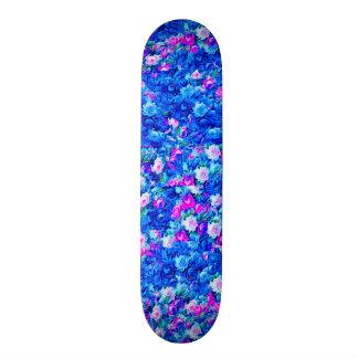 Rose rose gothique vintage et bleu skateboards personnalisés