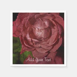 Rose rouge criqué par Shirley Taylor Serviettes Jetables