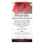 Rose rouge funèbre de Merci - les mots ne peuvent Carte Avec Photo