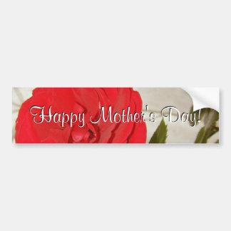 Rose rouge heureux du jour de mère autocollants pour voiture