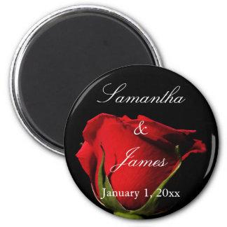 Rose rouge longtemps refoulé personnel aimant