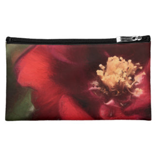 Rose rouge pochettes à maquillage