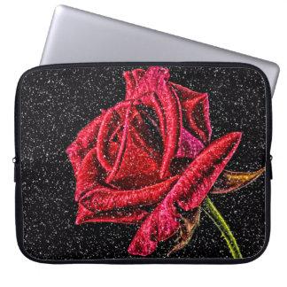 Rose rouge protection pour ordinateur portable