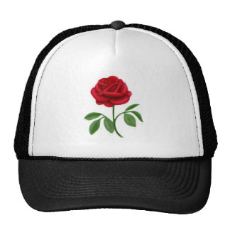 Rose rouge rouge casquette trucker