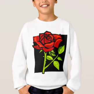 Rose rouge simple en pleine floraison sweatshirt