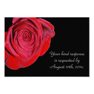 Rose rouge simple épousant la carte de RSVP Carton D'invitation 8,89 Cm X 12,70 Cm
