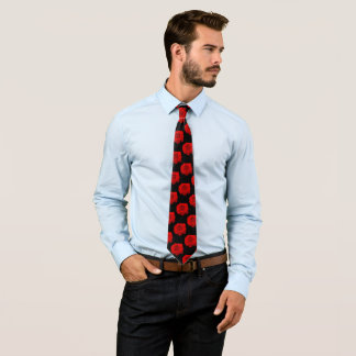 Rose rouge sur la cravate du noir II