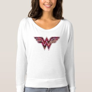 T-shirt épaule tombante Bella+Canvas Flowy pour femme, Logo Wonder Woman