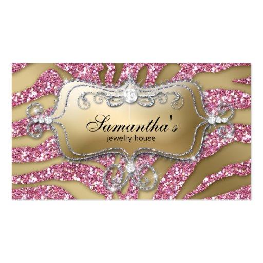 Rose Silv d'or de zèbre d'affaires de bijoux de Carte De Visite Standard