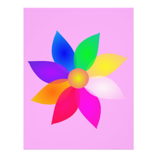 Rose simple d art de fleur prospectus avec motif