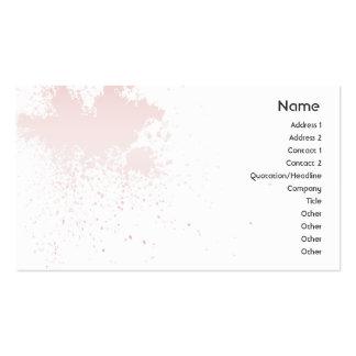 Rose sur l'éclaboussure blanche - affaires cartes de visite personnelles