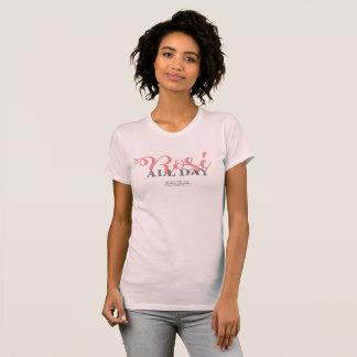 Rose tout le T-shirt de jour