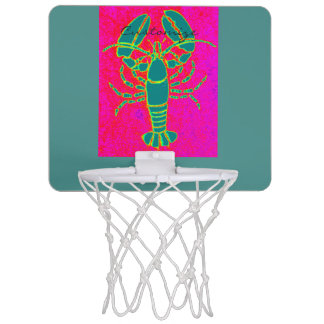 rose vert de Thunder_Cove de homards Mini-panier De Basket