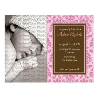 naissance fille cartes postales. Black Bedroom Furniture Sets. Home Design Ideas