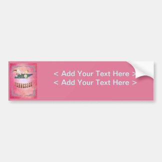Rose vintage de sucrerie de carte d état du Tennes Adhésifs Pour Voiture