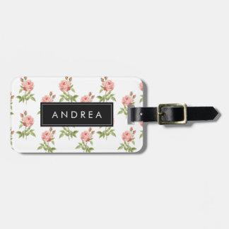Roseraie, étiquette personnalisée de bagage étiquette pour bagages