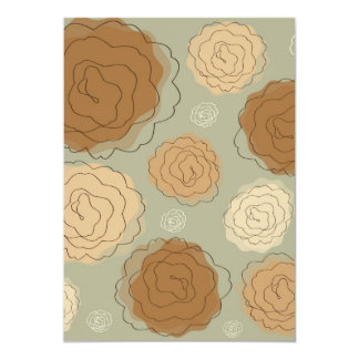 Roses Abstract Carton D'invitation 12,7 Cm X 17,78 Cm
