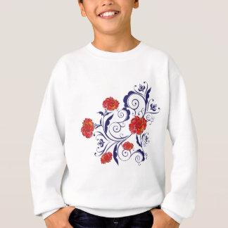 Roses abstraits d'arc-en-ciel sweatshirt