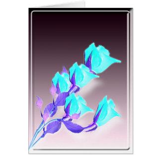 Roses abstraits de vacances carte de vœux
