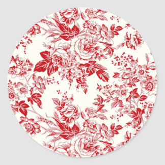 Roses - Autocollant Rond
