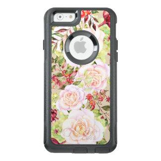Roses blancs et fleurs colorées coque OtterBox iPhone 6/6s