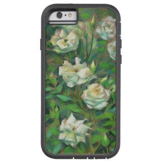 """""""Roses blancs, feuille vert"""", belles fleurs Coque Tough Xtreme iPhone 6"""