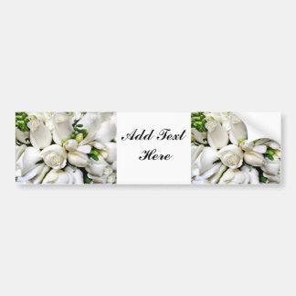 Roses blancs, pour tout occasion_ adhésifs pour voiture