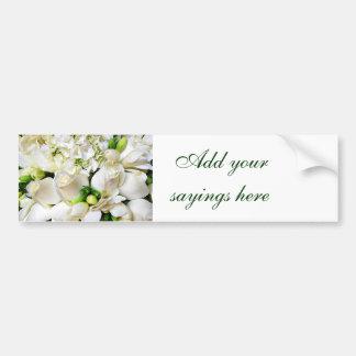 Roses blancs, roses de Love_ Autocollant De Voiture