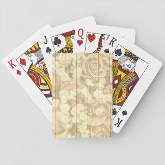 Roses chics de pays naturel jeu de cartes