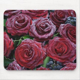 Roses congelés tapis de souris