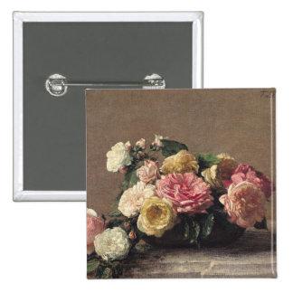 Roses dans un plat, 1882 badges