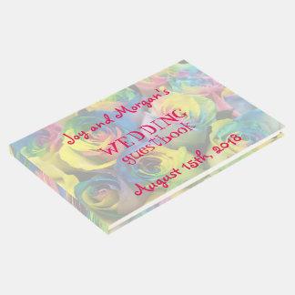 Roses d'arc-en-ciel épousant le Guestbook Livre D'or