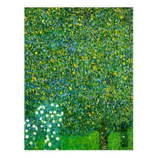 Roses de Gustav Klimt sous la carte postale de