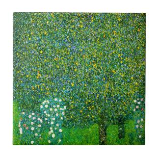 Roses de Gustav Klimt sous la tuile de poirier Petit Carreau Carré