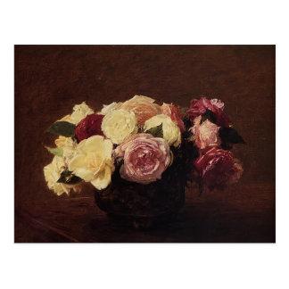 Roses de Henri Fantin-Latour- Cartes Postales