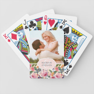 Roses de l'anglais de l'aquarelle | - photo de cartes à jouer
