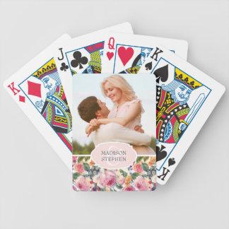 Roses de l'anglais de l'aquarelle | - photo de jeu de cartes