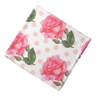 Roses de rose de Bandana de dames