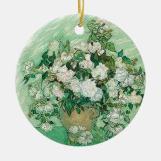Roses de Vincent van Gogh Ornement Rond En Céramique