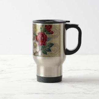 Roses d'oeillet d'anémone mug de voyage