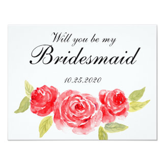 Roses élégants à l'invitation blanche de carton d'invitation 10,79 cm x 13,97 cm