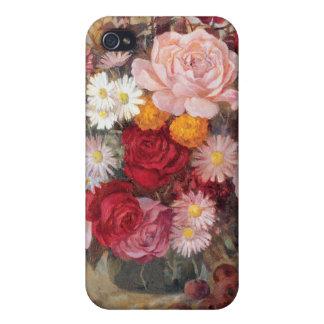 Roses et cas des marguerites iPhone4 Coques iPhone 4/4S