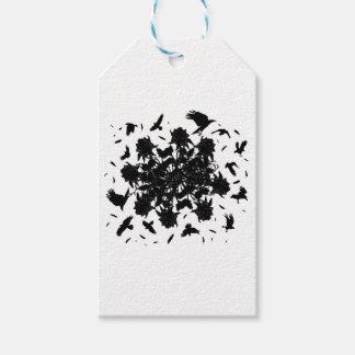 Roses et corbeaux noirs étiquettes-cadeau
