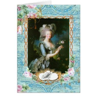 Roses et dentelle de Marie Antoinette Cartes De Vœux