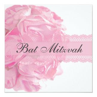 Roses et invitation roses de bat mitzvah de