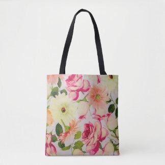Roses et marguerites en pastel sac
